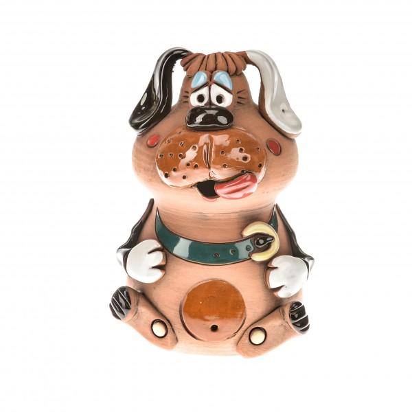 Spardose Hund mit Halsband