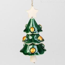 Keramikglocke. Weihnachtsbaum. Weihnachtsbaumschmuck