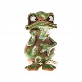 Spardose mit Füssen, Grüne Frosch