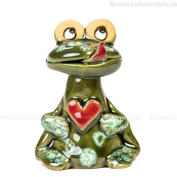 Frosch mit Herz. Minifigur.