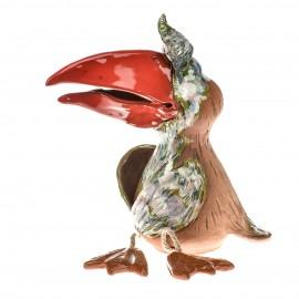 Spardose mit Füssen, Grünliche Vogel