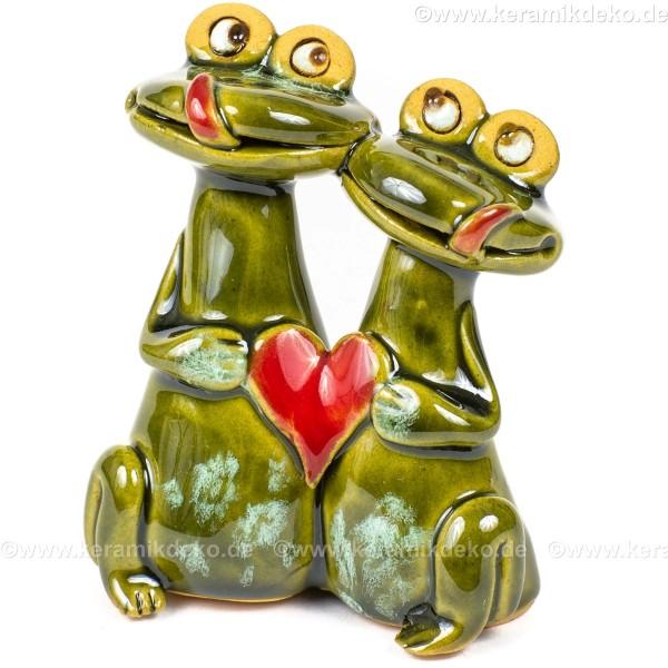 Frosch-Pärchen mit Herz. Minifigur.