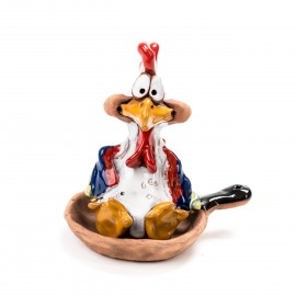 Keramikfigur Junghenne/ Hahn III