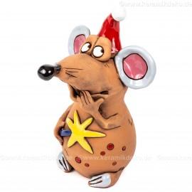 Maus mit Stern - Weihnachtsdekoration
