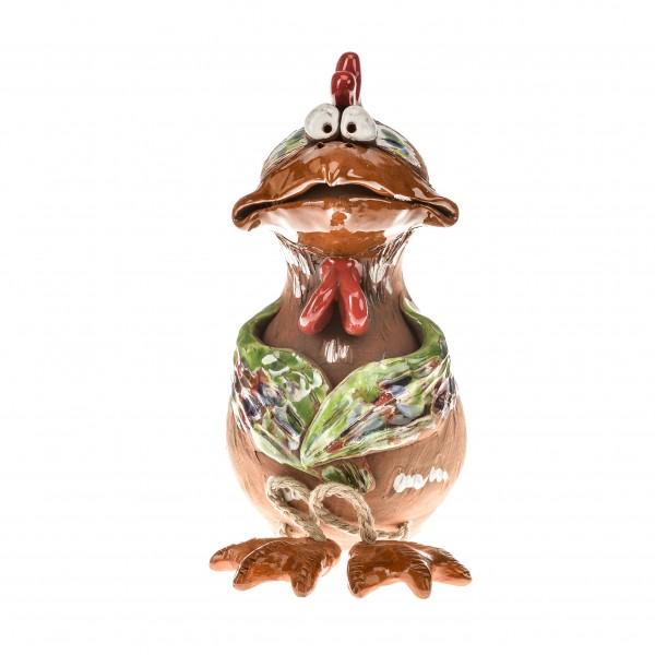 Gartenstecker mit Füssen, Huhn mit zwei Flügeln II