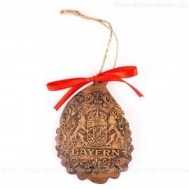 Bayern - Weihnachtsmann-form, braun, handgefertigte Keramik, Baumschmuck zu Weihnachten