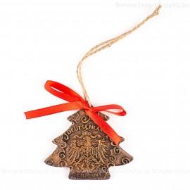 Bundesadler - Wappen - Weihnachtsbaum-form, braun, handgefertigte Keramik, Weihnachtsbaumschmuck