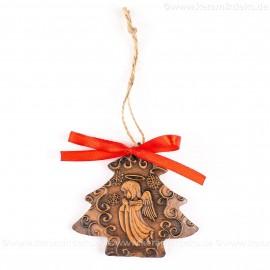 Weihnachtsengel - Weihnachtsbaum-form, braun, handgefertigte Keramik, Weihnachtsbaumschmuck