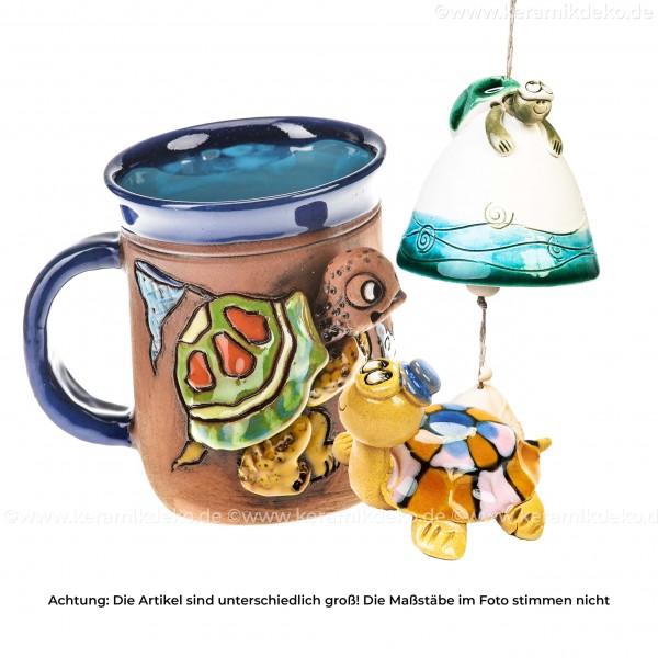 Keramikset 14 (3-tlg.) Turtles: Glocke, 3D-Tasse & Minifigur