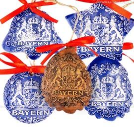 Keramikset 32 (6-tlg.) Bayern-Christbaumschmuck
