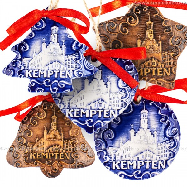 Keramikset 34 (6-tlg.) Kempten-Christbaumschmuck