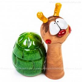 Keramik Gartenstecker - Schnecke - Gartendeko
