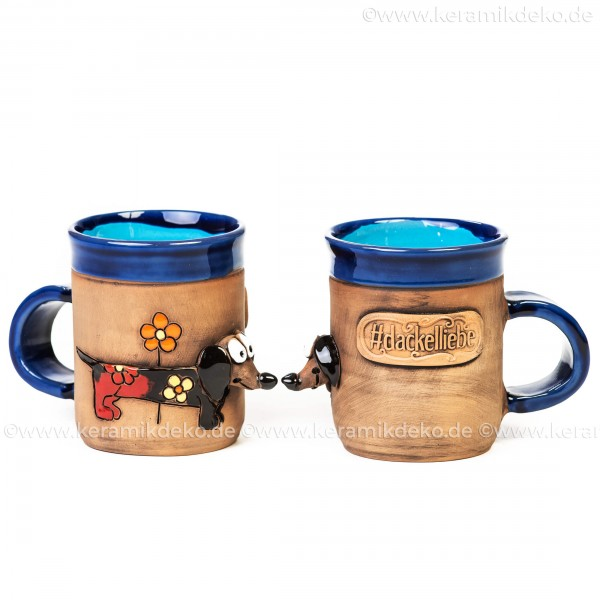 Keramik 3D Motivtasse - Dackel - Keramikbecher