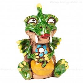 Keramik Gartenstecker - Drachenlady klein - Gartendeko