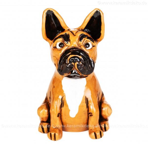 Gartenstecker Französische Bulldogge div. Farben