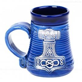 Blauer Becher 0,3l Nr.4 - Thors Hammer