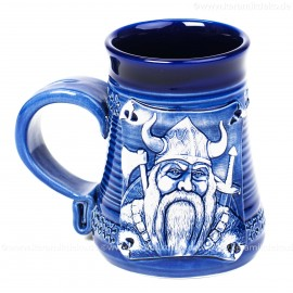 Blauer Becher 0,3l Nr.4 - Wikinger