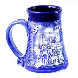 Blauer Becher 0,5l Nr.4 - Oktoberfest