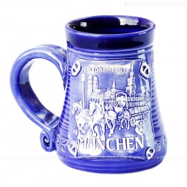 Blauer Becher 0,3l Nr.4 - Oktoberfest