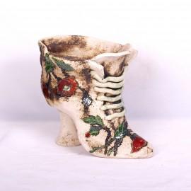 Blumentopf Damenschuh I – Größe L