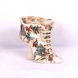 Blumentopf Damenschuh II– Größe L