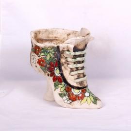 Blumentopf Damenschuh III – Größe L