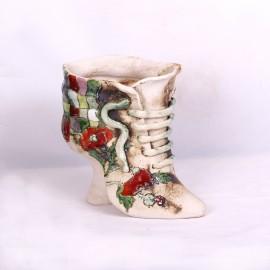 Blumentopf Damenschuh IV – Größe L