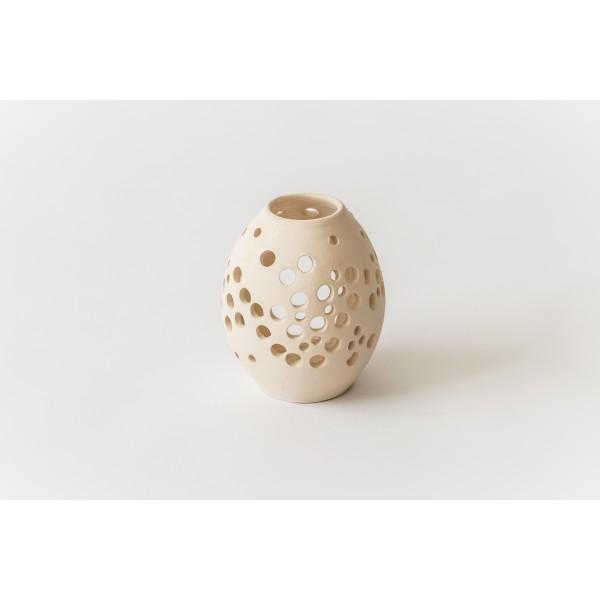 Teelichthaus Mittelgroße netzartige Ornamente V –Größe M