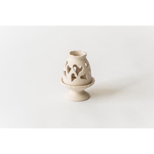 Teelichthaus Mittelgroße netzartige Ornamente IX – Größe M