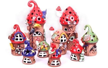 Teelichthäuser keramik