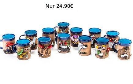 Handgefertigte Keramiktassen mit 3D-Motiv – Nur 18,90 €