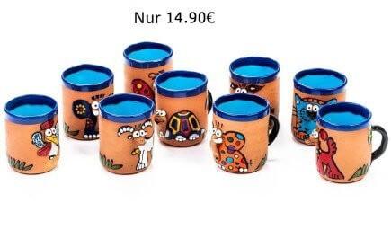 Handgefertigte Tiermotiv Keramiktassen – nur 12,90 €