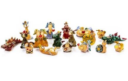 Mini Keramik-Tierfiguren